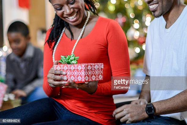 Husband Giving a Present to His Wife