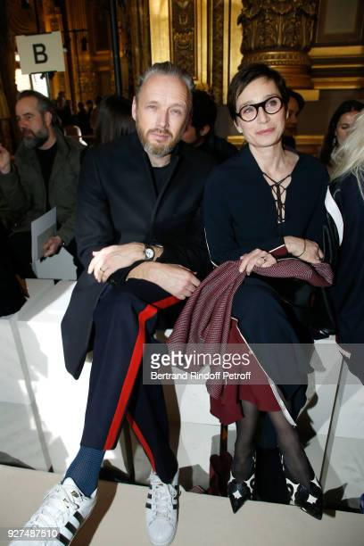 Husband of Stella Alasdhair Willis and actress Kristin Scott Thomas attend the Stella McCartney show as part of the Paris Fashion Week Womenswear...