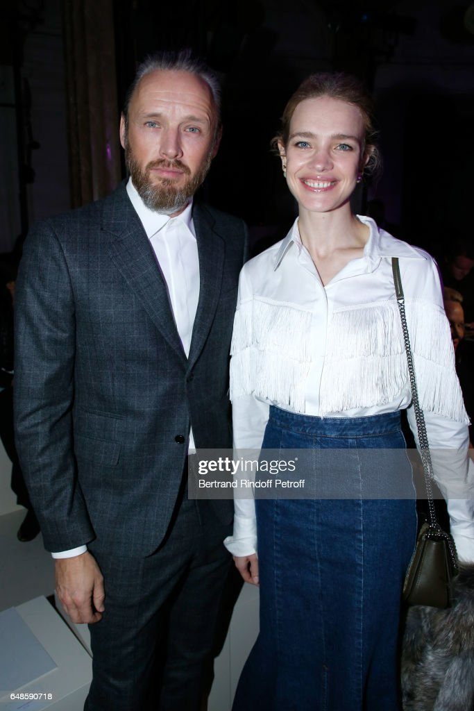 Husband of Stella, Alasdhair Willis and Natalia Vodianova attend the Stella McCartney show as part of the Paris Fashion Week Womenswear Fall/Winter 2017/2018 on March 6, 2017 in Paris, France.