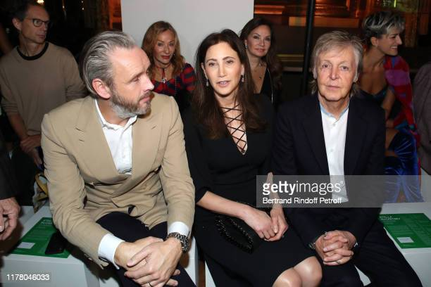 Husband of Stella, Alasdhair Willis , Paul McCartney and his wife Nancy Shevell attend the Stella McCartney Womenswear Spring/Summer 2020 show as...