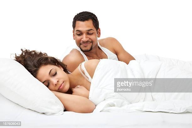 Husband Watching Wife Sleep