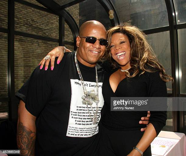 Husband/manager Kevin Hunter and Wendy Williams during Wendy Williams's Signs to Alize as National Spokesperson at Kobrand Headquarters in New York...