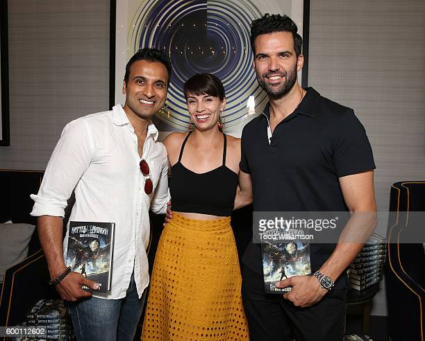 Huse Madhavji, Adrienne Kress and Benjamin Ayres attend the 8th Annual Bask-It-Style Media Day At The Thompson Hotel By GLO Communications on...