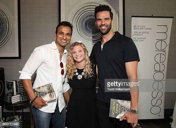 Huse Madhavji and Benjamin Ayres attend the 8th Annual Bask-It-Style Media Day At The Thompson Hotel By GLO Communications on September 7, 2016 in...