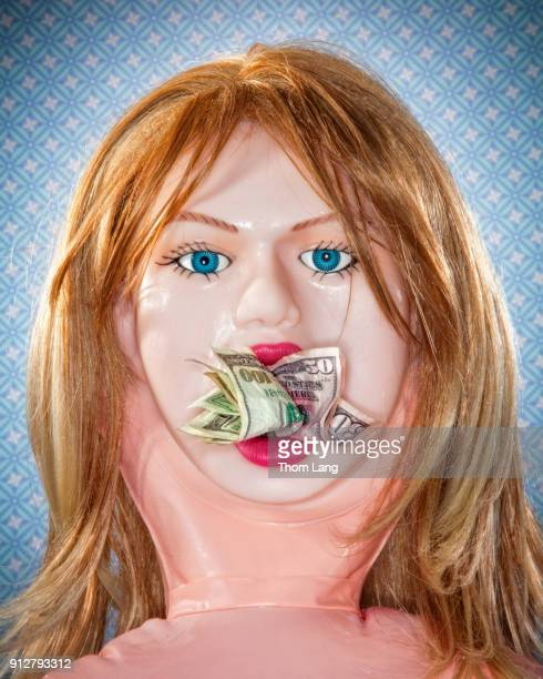 hush money doll - blow up doll stock pictures, royalty-free photos & images
