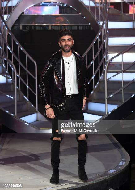 Hussain Ahmed is evicted from the Big Brother House at Elstree Studios on October 19 2018 in Borehamwood England
