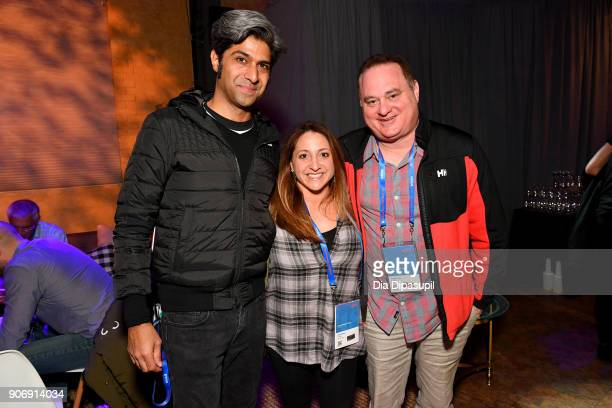 Hussain Currimbhoy and Directors Susan Bedusa and Douglas Tirola attend the Filmmakers Welcome Reception during the 2018 Sundance Film Festival at...
