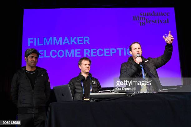 Hussain Currimbhoy Sundance Film Festival Senior Programmer John Nein and Film Festival Director of Programming Trevor Groth speak onstage at the...