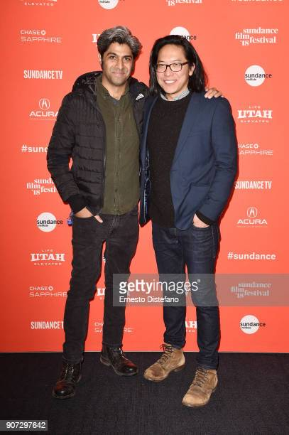 Hussain Curryihmbo and filmmaker Stephen Maing attend the 'Crime And Punishment' Premiere during the 2018 Sundance Film Festival at The Ray on...