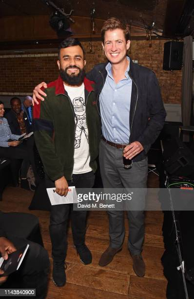 Hussain Manawer and Matt Barber attend The Centrepoint Awards 2019 at The Century Club on May 14 2019 in London England