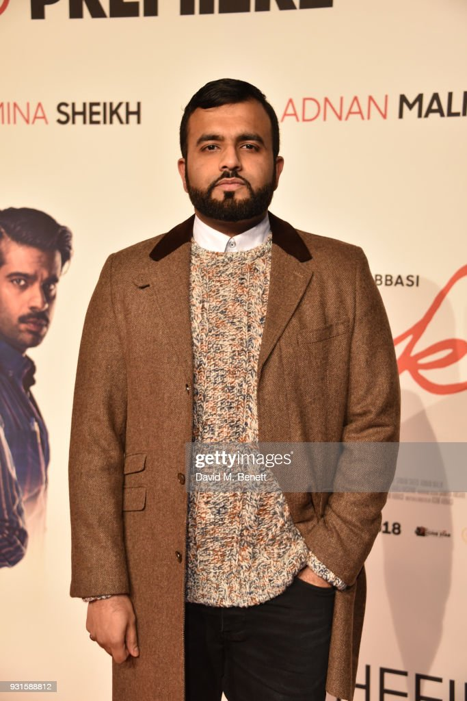 Hussain Manawer attends the UK Premiere of 'Cake' at the Vue West End on March 13, 2018 in London, England.