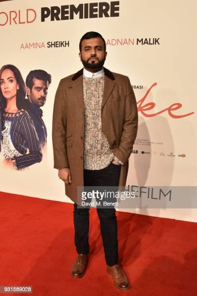 Hussain Manawer attends the UK Premiere of 'Cake' at the Vue West End on March 13 2018 in London England