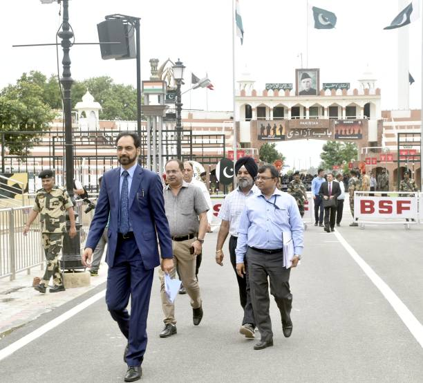 IND: Kartarpur Corridor: Indian Delegation Arrives At Wagah In Pakistan, Talks Underway
