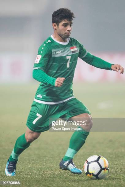 Hussein Ali of Iraq in action during the AFC U23 Championship China 2018 Group C match between Iraq and Jordan at Changshu Sports Center on 16...