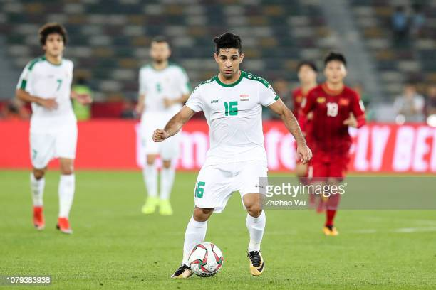 Hussein AlSaedi of Iraq in action during the AFC Asian Cup Group D match between Iraq and Vietnam at Zayed Sports City Stadium on January 8 2019 in...