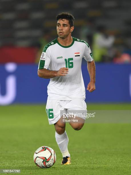 Hussein AlSaedi of Iraq in action during the AFC Asian Cup Group D match between Iraq and Vietnam at Zayed Sports City Stadium on January 08 2019 in...