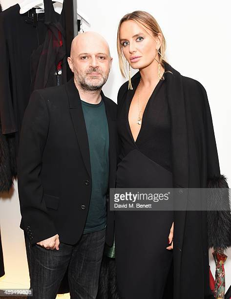 Hussein Chalayan and Masha Markova Hanson attend as Hussein Chalayan celebrates 21 years in fashion at the CHALAYAN Mayfair Store on September 21...