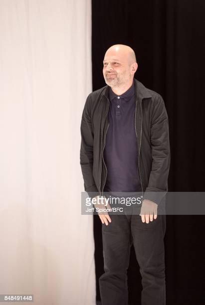 Hussein Chalayan at the CHALAYAN show during London Fashion Week September 2017 on September 17 2017 in London England