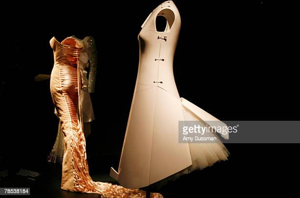 Hussein Chalayan 'Remote Control' dress is displayed at the 'Blogmode addressing fashion' exhibit at the Metropolitan Museum of Art's Costume...