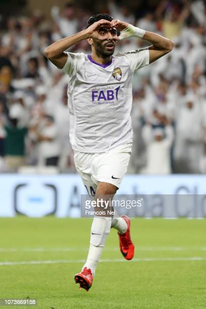 Hussein El Shahat of Al Ain celebrates after scoring his team's second goal during the FIFA Club World Cup UAE 2018 Second round match between ES...