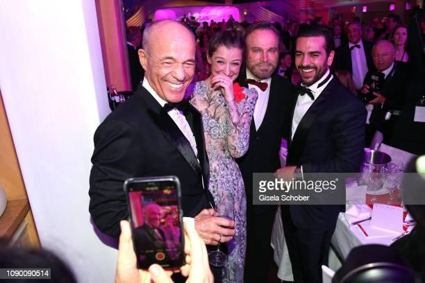 Hussein Eliraqui Jella Haase Alireza Golafshan during the 46th German Film Ball party at Hotel Bayerischer Hof on January 26 2019 in Munich Germany