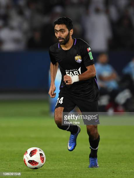 Hussein Elshahat of Al Ain in action during the FIFA Club World Cup UAE 2018 Final between Real Madrid and Al Ain at the Zayed Sports City Stadium on...