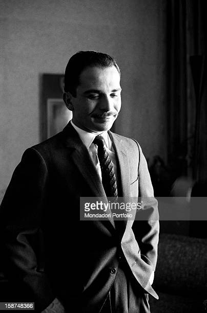 Hussein of Jordan posing in his private house Jordan 24th March 1964