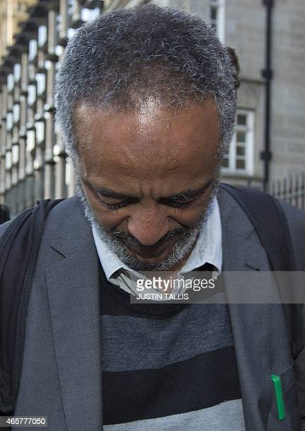 Hussen Abase father of Amira Abase leaves the House of Commons Home Affairs Committee after giving evidence on the background and details leading to...