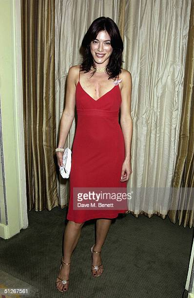 """Hustle"""" actress Jaime Murray poses in the awards room at the """"TV Quick Awards 2004"""" at The Dorchester on September 6, 2004 in London. The annual..."""