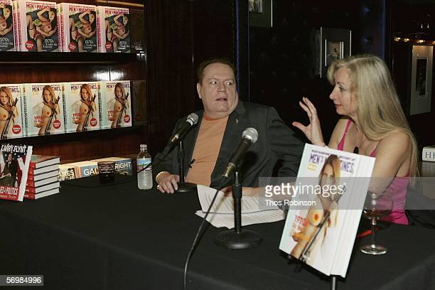 Hustler Magazine Founder Larry Flynt attends a book signing with Dian Hanson at Taschen Store on March 2, 2006 in Beverly Hills, California.