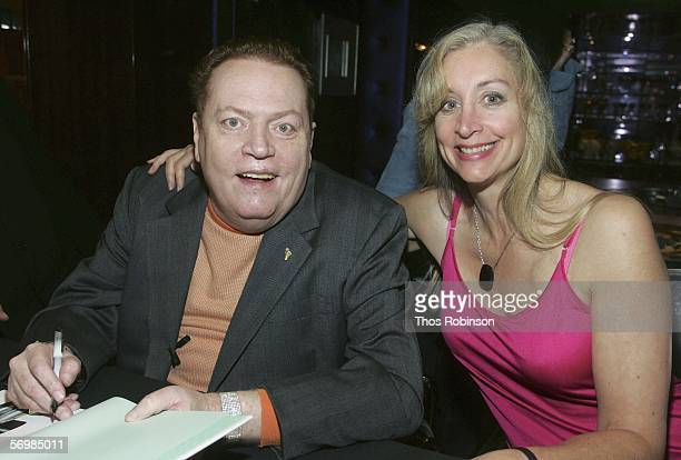 Hustler Magazine Founder Larry Flynt attends a book signing with Dian Hanson at Taschen Store on March 2 2006 in Beverly Hills California