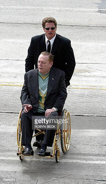 Hustler Magazine publisher and gubernatorial candidate Larry Flynt arrives at a local polling station in West Hollywood to vote in the special recall...