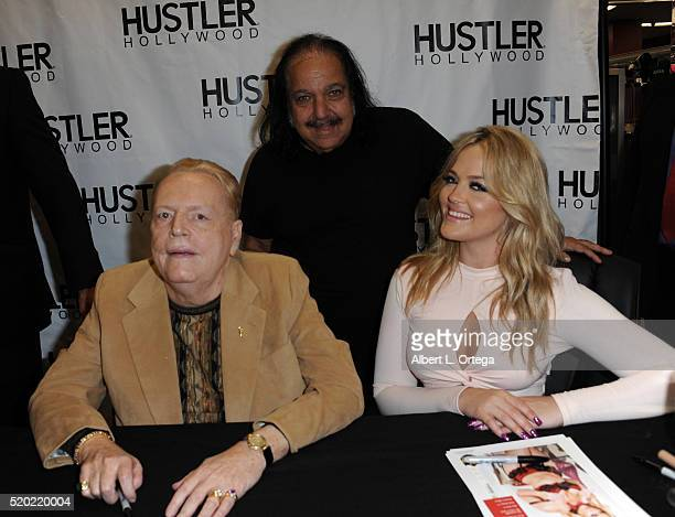 Hustler publisher Larry Flynt adult film star Ron Jeremy and adult film actress Alexis Texas at the Hustler Hollywood New Store Opening held at...
