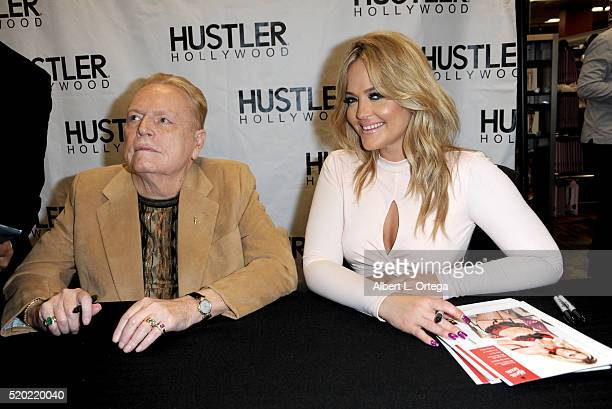 Hustler publisher Larry Flynt and adult film actress Alexis Texas at the Hustler Hollywood New Store Opening held at Hustler Hollywood on April 9...