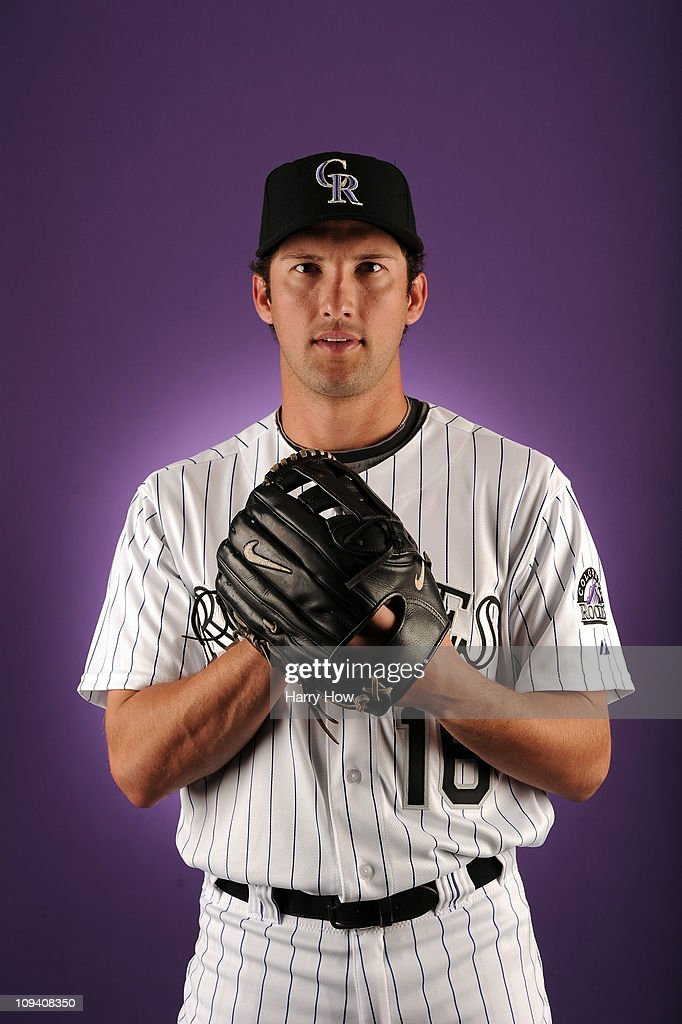 Huston Street #16 of the Colorado Rockies poses for a portrait during photo day at the Salt River Fields at Talking Stick on February 24, 2011 in Scottsdale, Arizona.