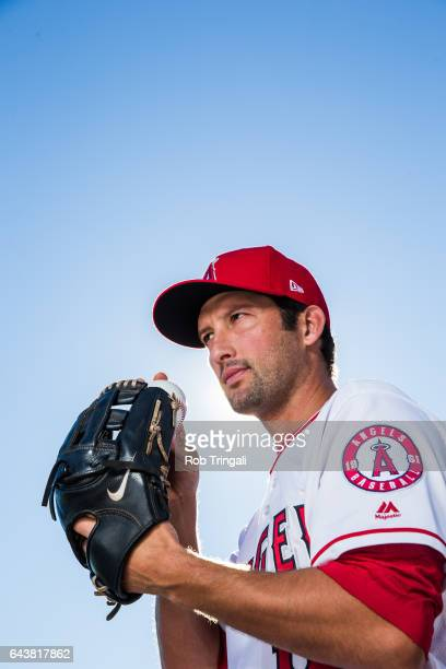 Huston Street of the Los Angeles Angels of Anaheim poses for a portrait at Tempe Diablo Stadium on February 21 2017 in Tempe Arizona