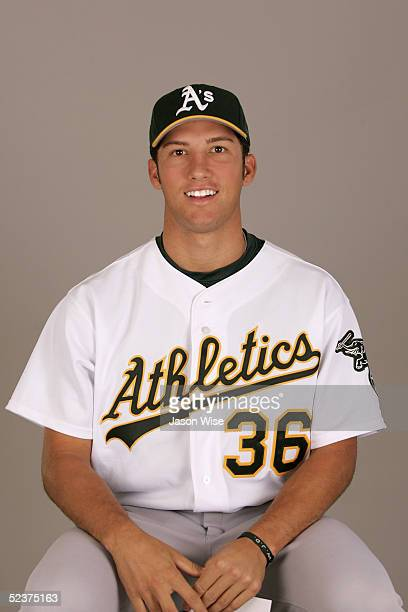 Huston Street of the Oakland Athletics poses for a portrait during photo day at Phoenix Stadium on February 28 2005 in Phoenix Arizona