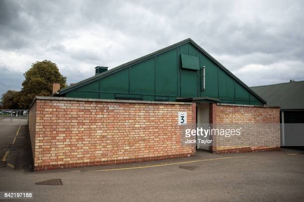 Hut 3 in Bletchley Park stands during an annual reunion event of World War II veterans who worked at Bletchley Park and its outstations on September...