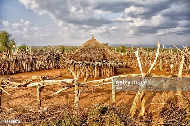 Hut and Corral, Hamer Tribe, Omo Valley, Ethiopia