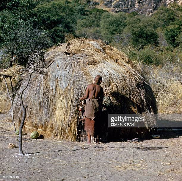 Hut in a Bushman village Botswana