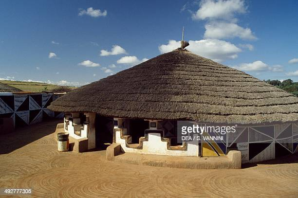 Hut in a Ndebele village South Africa