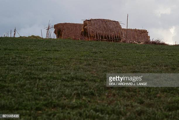 Hut in the hills of Montefalco, Umbria, Italy.