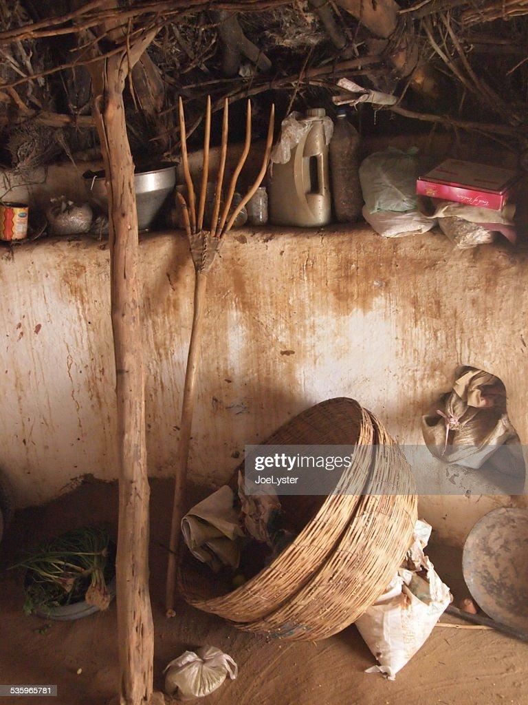 Hut Interior : Stock Photo