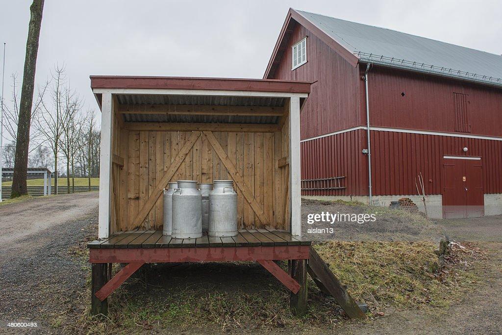 hut Mountain milk : Stock Photo