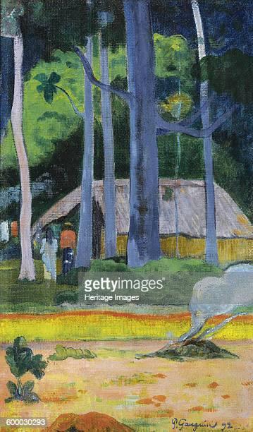 Hut under Trees 1892 Private Collection Artist Gauguin Paul Eugéne Henri