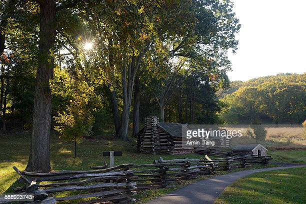 Huts at Valley Forge National Historic Park