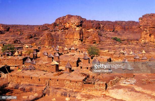 huts in the hills of Dogon country, Mali