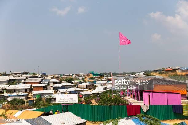 Kutupalong Ukhiya near Cox´s Bazar Bangladesh October 16 2018 Huts in the refugee camp of the Rohingya people near Cox's Bazar in Bangladesh in Camp...