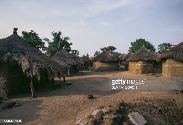 Huts in the village of Akakope Togo