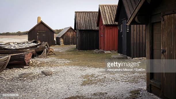 huts on field - alessandro miccoli stock pictures, royalty-free photos & images